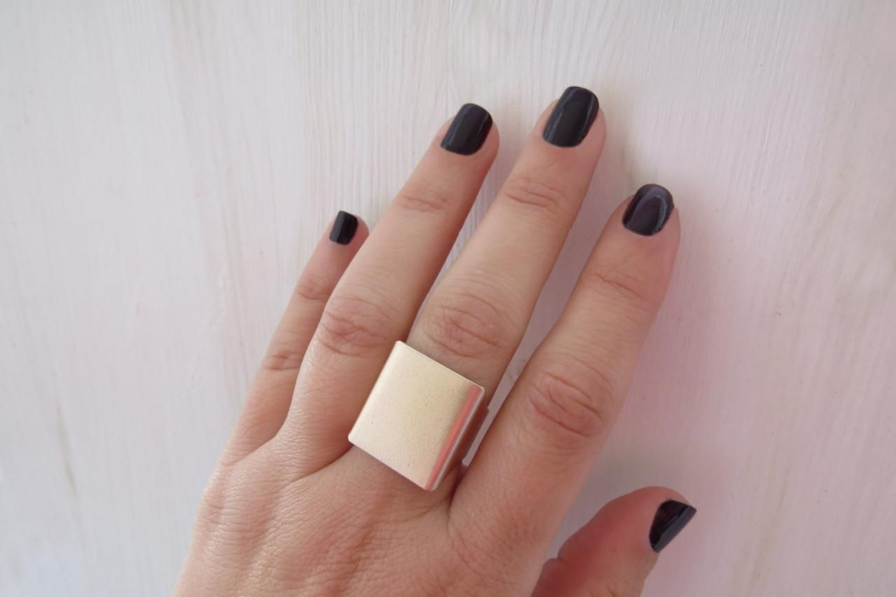 Gold Ring, Wide Band Ring, Rose Gold Ring, Adjustable Ring, Statement Rose Gold Ring, Gold Accessori on Luulla