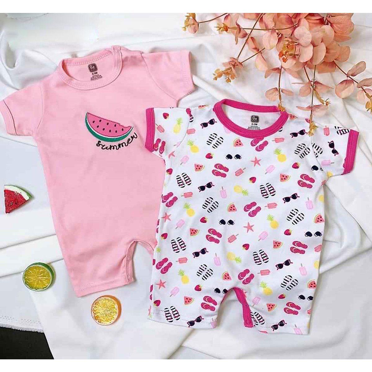 Set 2 áo liền quần áo cho bé sơ sinh, đồ sơ sinh mùa hè trong 2020 | Quần áo,  Áo liền quần, Mùa hè
