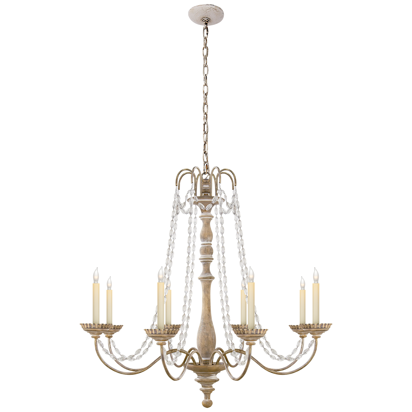 Flanders Chandelier by E F Chapman $735 Belgian White with