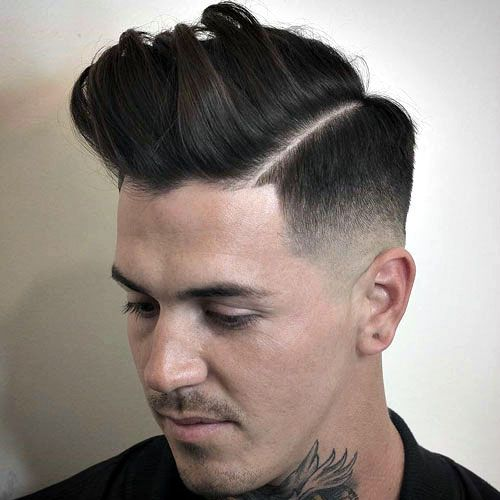 The razor fade haircut razor fade fade haircut and haircuts mid razor fade with line up and messy pomp urmus Gallery