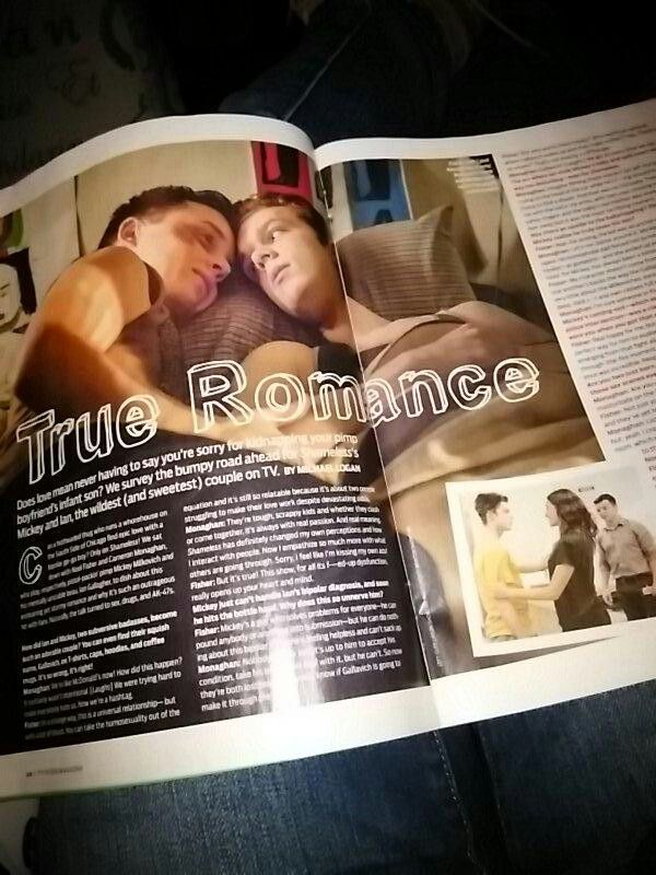 I have never been excited for tv guide to come out. #Gallavich