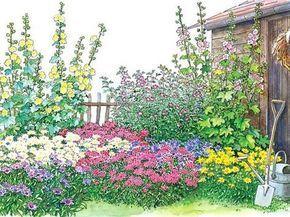 Ein Bauerngarten-Beet zum Nachpflanzen #cottagegardens