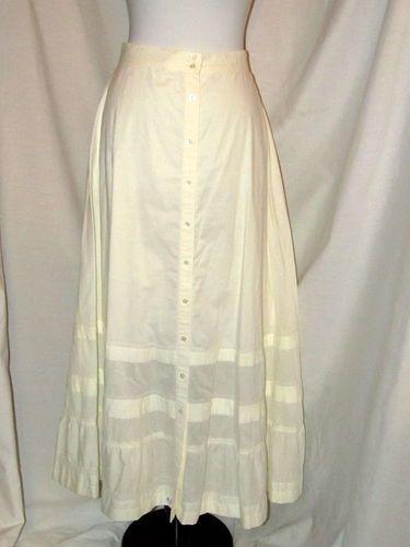 Sz 6 Lauren Ralph Lauren A Line Skirt Off White Long 4 Tiers Button Front Eyelet