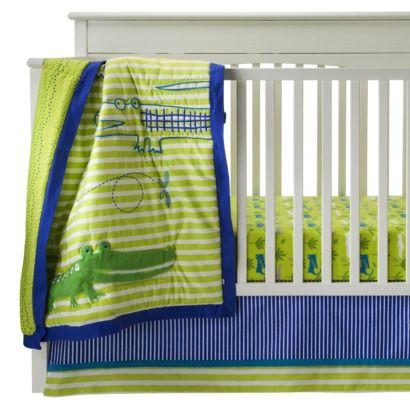 zutanoblue alligators 4 pc crib bedding set from target for a