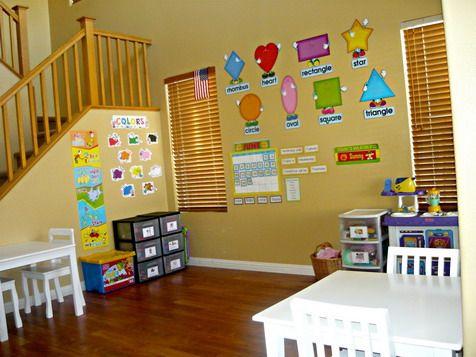 Fun Kids Play Room With Preschool Classroom Wall Decorations Ideas