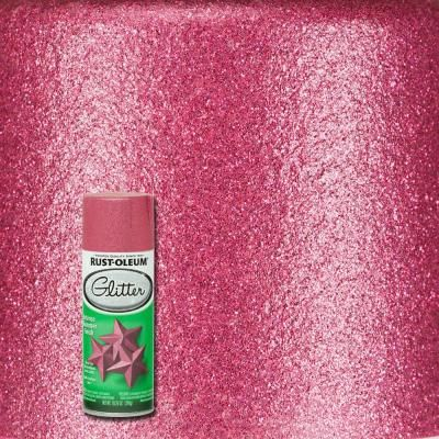 Rust-Oleum Specialty 10.25 oz. Bright Pink Glitter Spray Paint (6-Pack)-276287 - The Home Depot