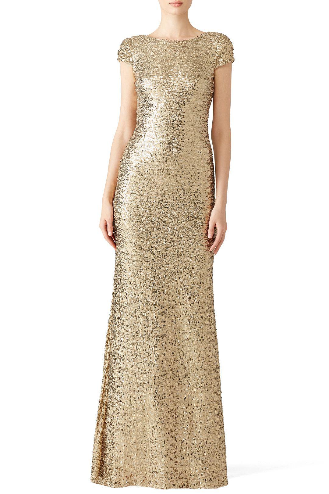 Gold Dress Rent the Runway
