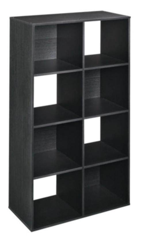 Target Book Shelves $15, black book shelf (orig. $45 @ target) http://www.target/p