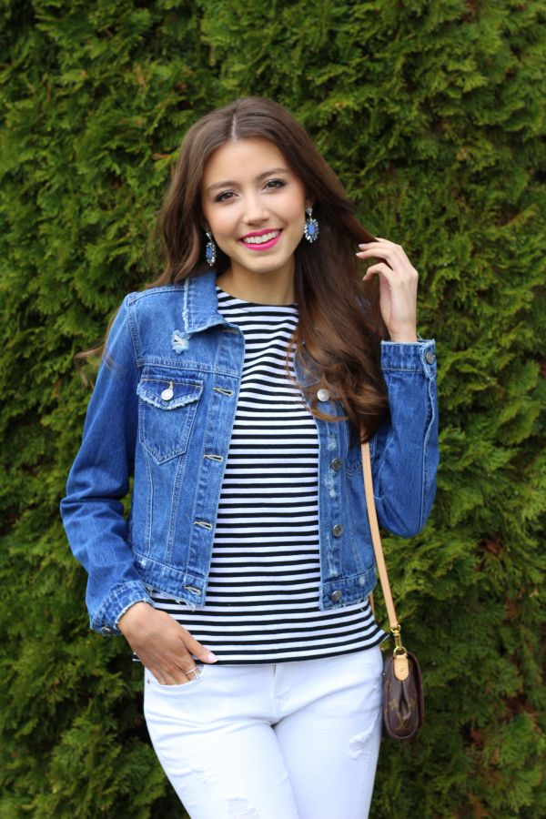 d83d74914dd Simply Stripes + Denim Jacket Perfect denim jacket