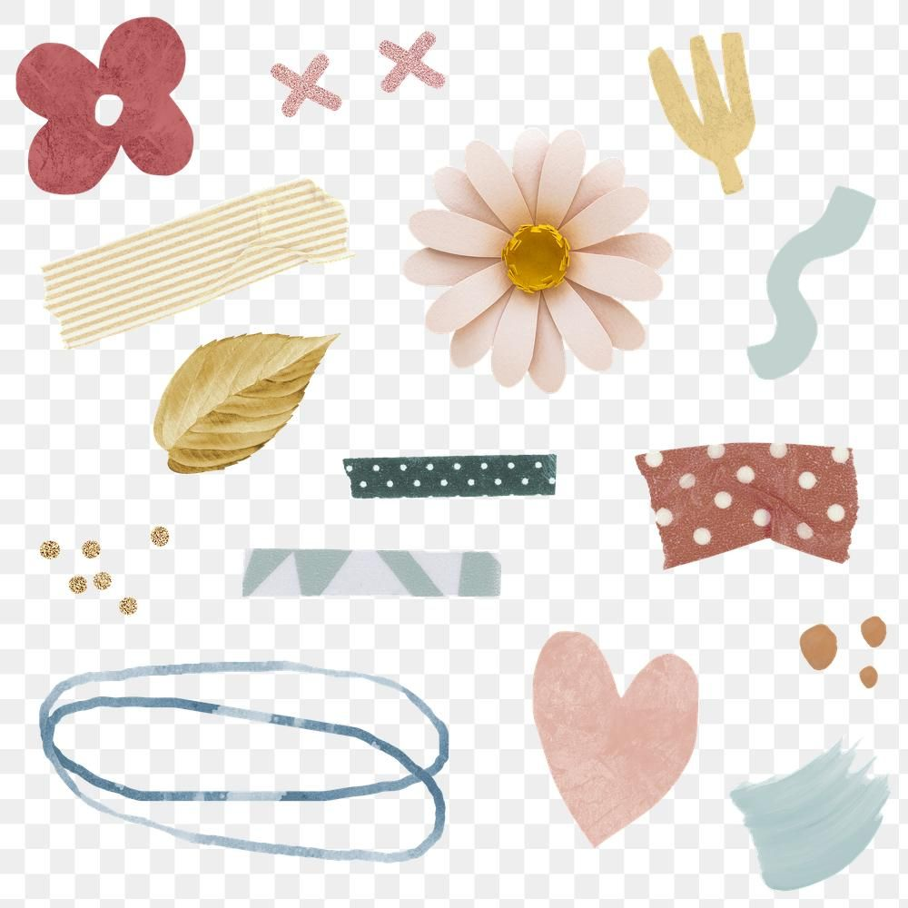 Floral And Washi Tape Stickers Pack Transparent Png Premium Image By Rawpixel Com Ningzk V Free Hand Drawing Printable Stickers Paper Background Texture