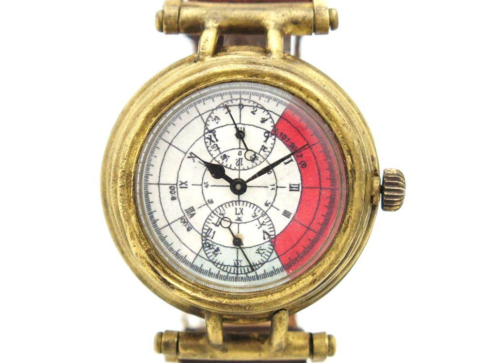 30077ac231 手作り腕時計 レッドゾーンがデザインされたファッショナブル腕時計: 廃墟・SF・
