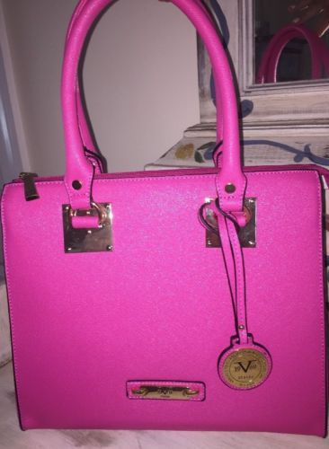 #Trending - NEW! Versace Handbag V 1969 ITALIA Sportivo Daphne Fuchsia Pink Purse Satchel https://t.co/ExBjAGA7Wi E https://t.co/QSqJfDZOql