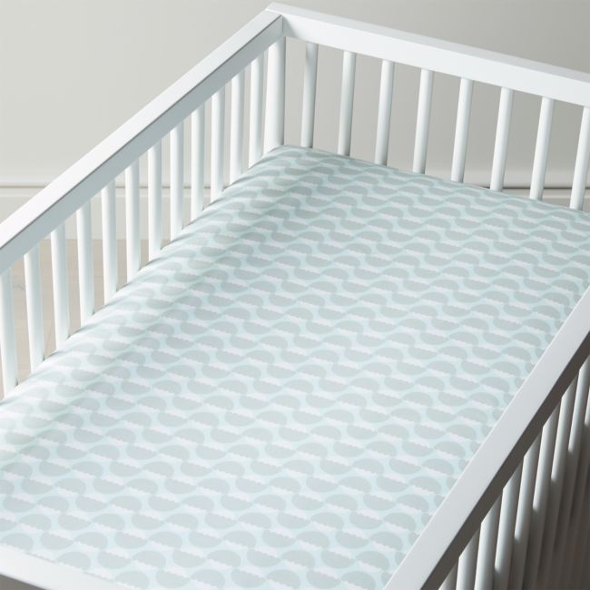 Organic Well Nested Blue Acorn Crib Fitted Sheet Cribs Fitted Sheet