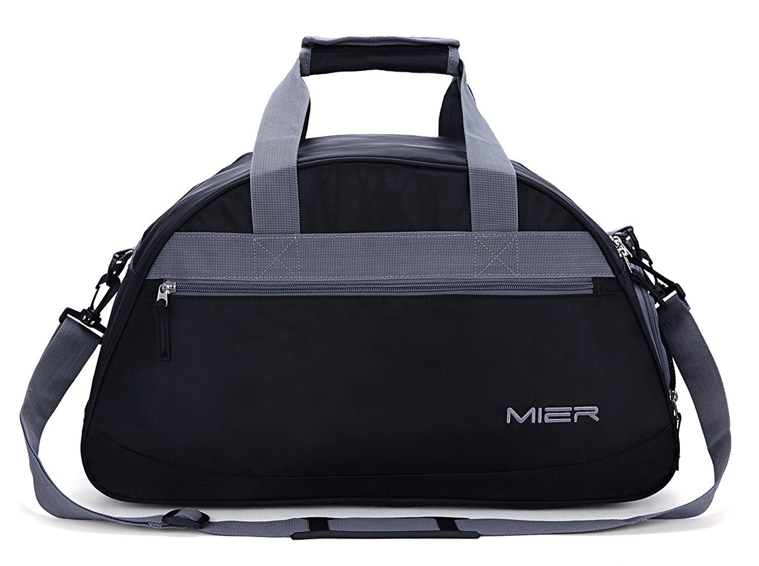 Carry On Size Black 20inches MIER Gym Duffel Bag for Men and Women with Shoe Compartment