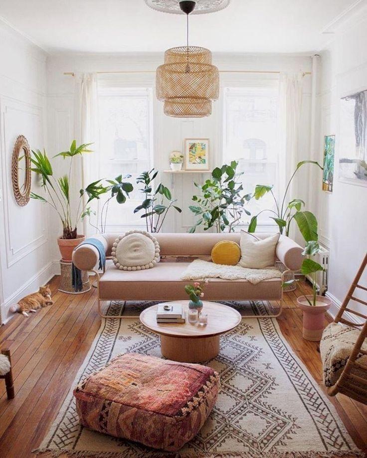 34 Modern Rustic Bohemian Living Room Design Ideas #wohnzimmerideen