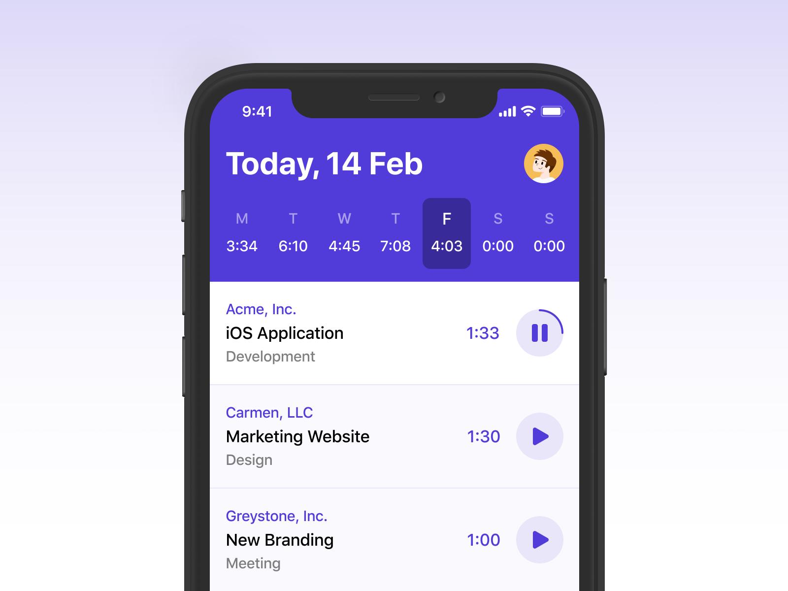 iOS Time Tracker en 2020 Générale