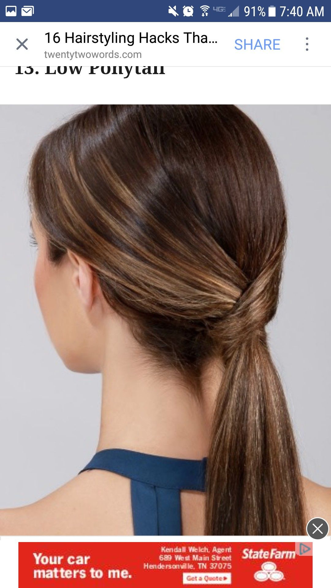 Pin by Morgan Young on Hair | Cute ponytail hairstyles, Interview hairstyles, Job interview ...
