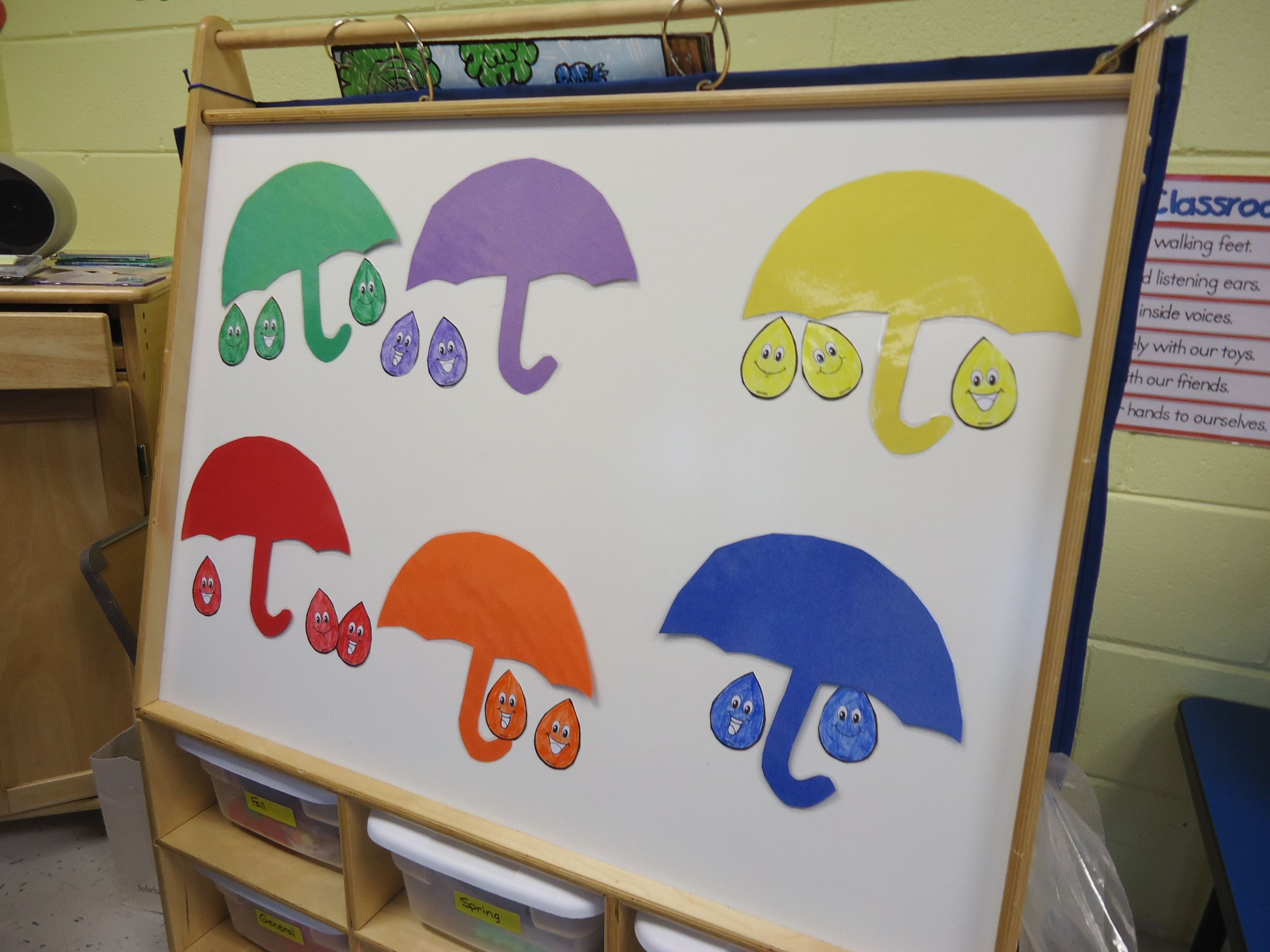 Color Game The Children Match The Correct Color Rainbow To The Same Color Umbrella We Do This