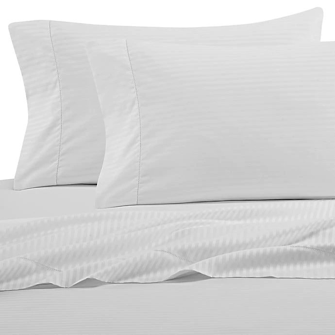 Wamsutta 525 Thread Count Pimacott Wrinkle Resistant Fitted Sheet Bed Bath Beyond Wamsutta King Fitted Sheet King Flat Sheet