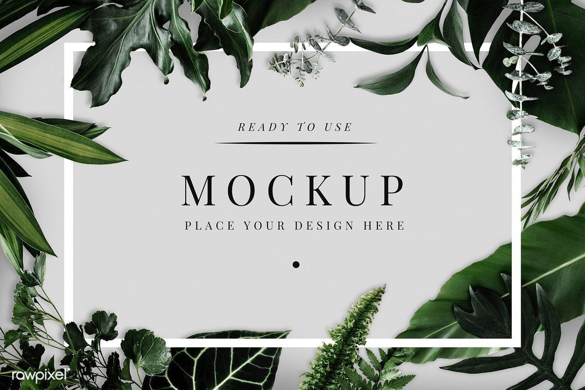 Download premium psd of Tropical foliage design frame ...