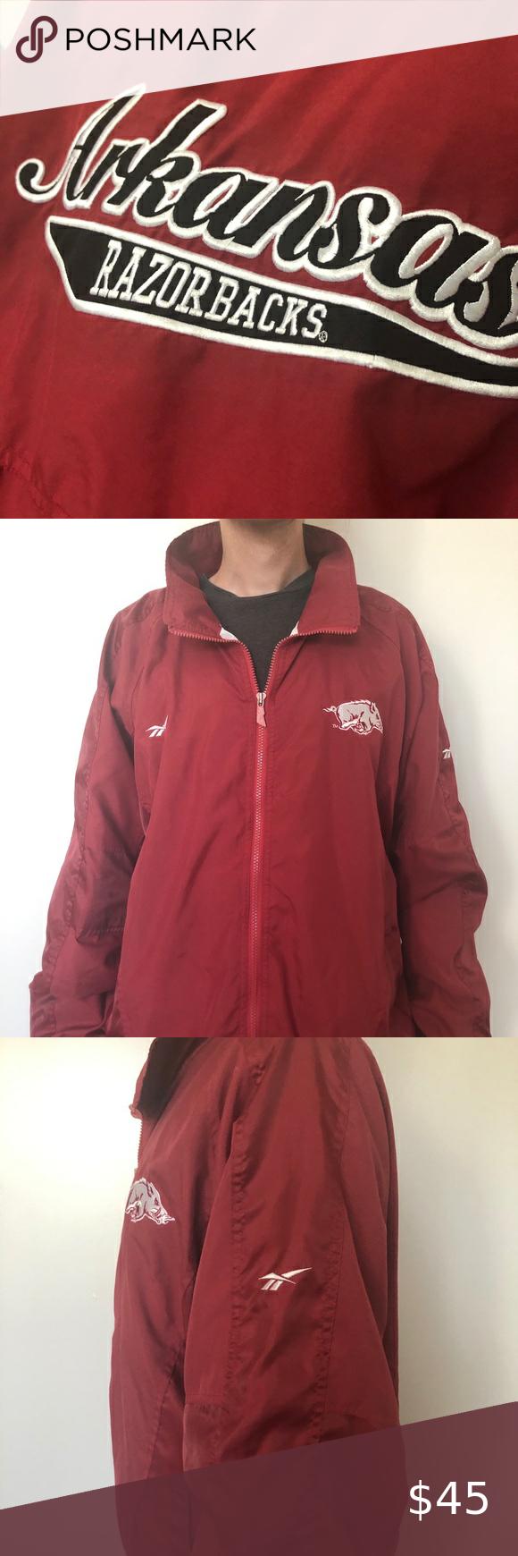 Vintage Reebok Arkansas Razorbacks Jacket Jackets Vintage Reebok Lightweight Shirts [ 1740 x 580 Pixel ]