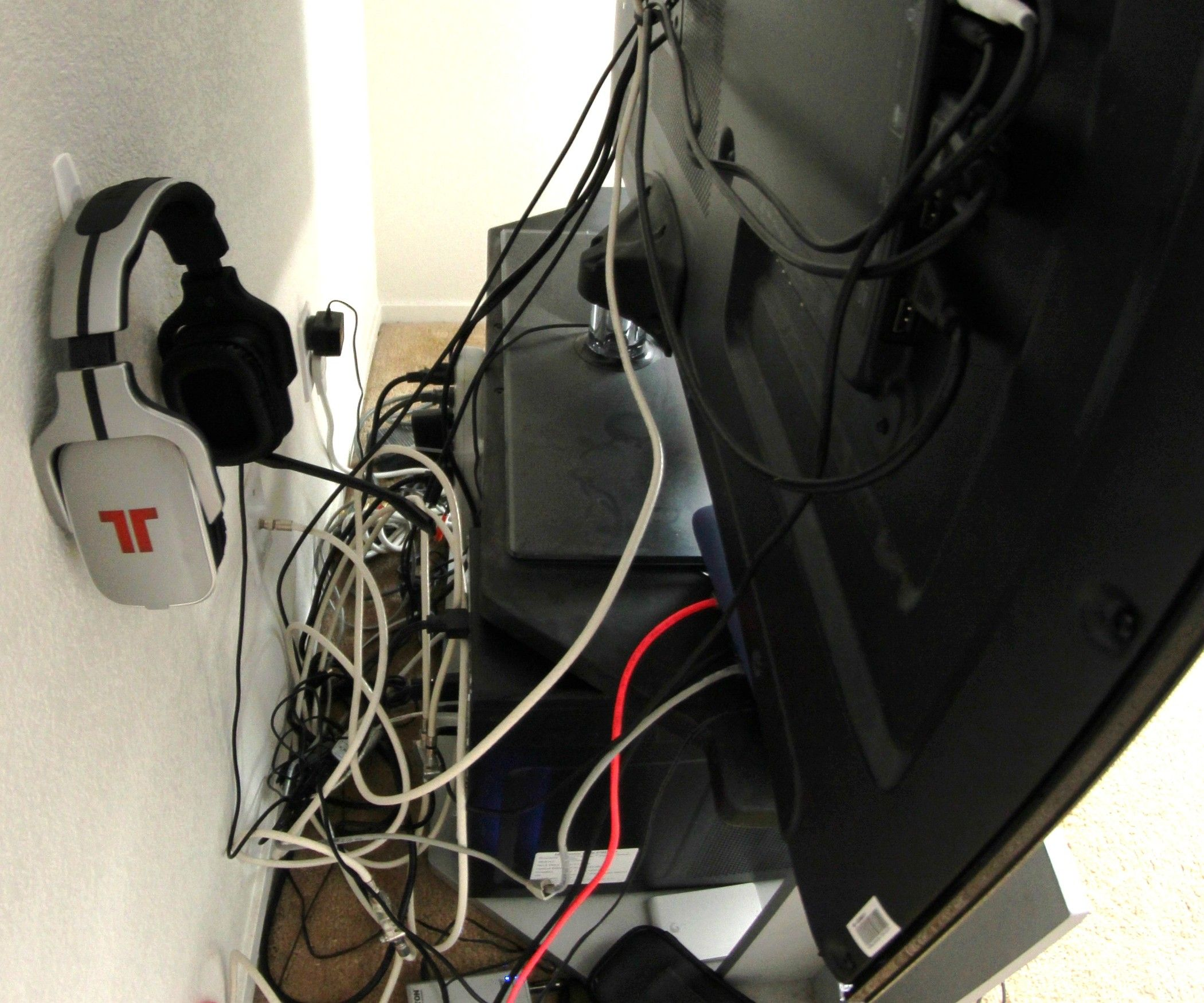 Cable Management Home Theater Tv Computer Xbox Organization