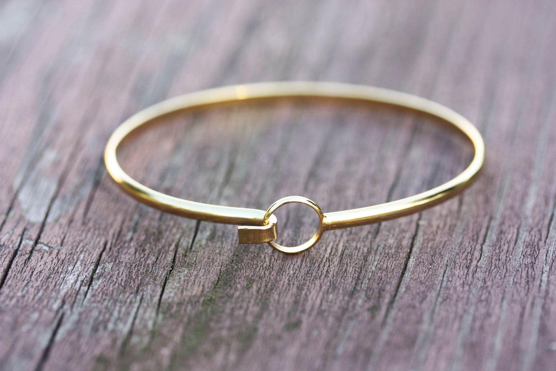 Gold Wire Bracelet - Circle Hook. $18.00, via Etsy. | Wedding ...