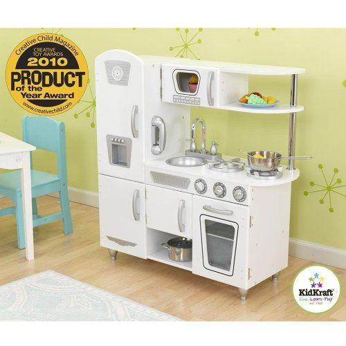 Kidkraft Vintage Kitchen White Amazon Toys Amp Games Wooden Play Kitchen Play Kitchen Sets Kids Play Kitchen