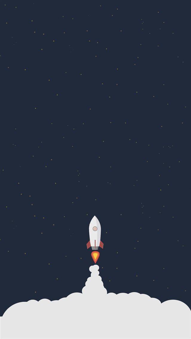 Rocket Liftoff Illustration Iphone 8 Wallpaper مشروع