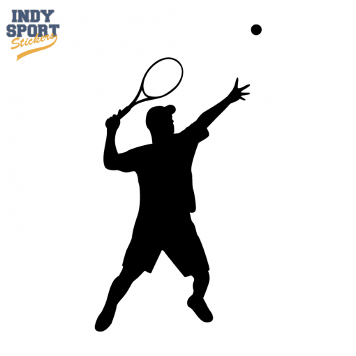 Tennis Player Male Boy Serving Decal With Images Tennis Players Tennis Lessons Tennis Videos