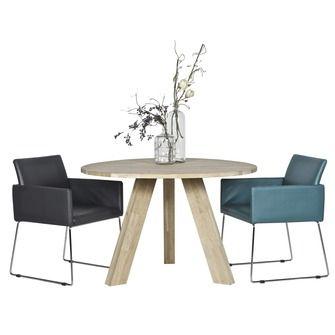 WOOOD tafel Rhonda Ø129x76 cm | Eetkamertafels | Tafels | Meubelen ...