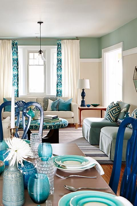 Globe and mail real potential turquoise living dining room - Sarah richardson living room ideas ...