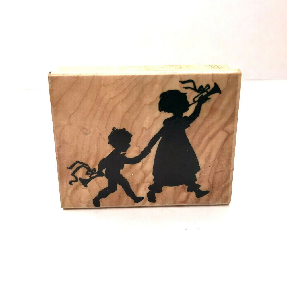 Stampassions Wood Mounted Rubber Stamp Step into Spring