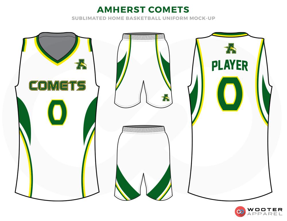 Amherst Comets Green, White, Yellow White Custom