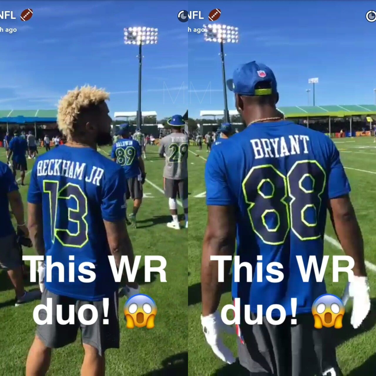 Dez Bryant Odell Beckham Orlando Fl Pro Bowl 2017