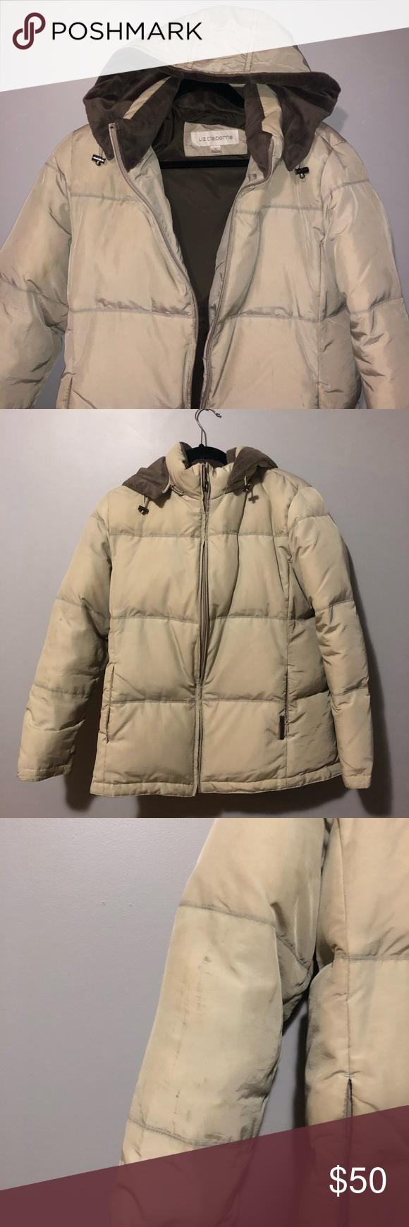 Liz Claiborne Jacket In Good Condition Just Needs A Wash Marks As Shown Should Come Off Warm Winter Jacket Liz Warm Winter Jackets Winter Jackets Jackets [ 1740 x 580 Pixel ]
