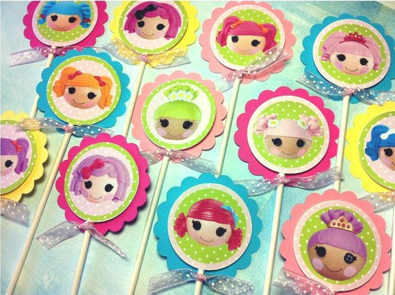 LALALOOPSY Birthday Party Cupcake Toppers by HappyBubby on Etsy, $10.00