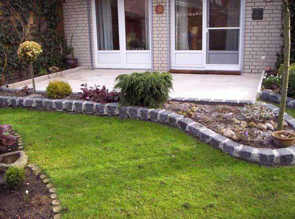 Beeteinfassung granitsteine garten pinterest for Beetgestaltung terrasse