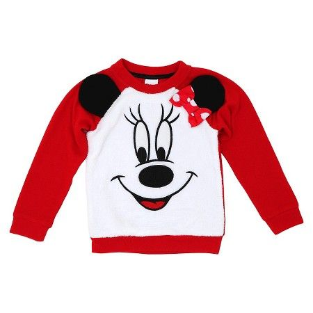 Toddler Girls' Minnie Mouse Sweatshirt - Red : Target