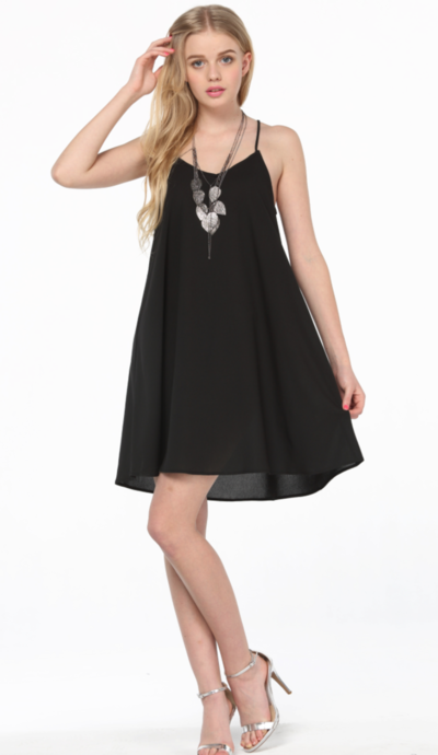 edbfade693 Vestido negro suelto Más