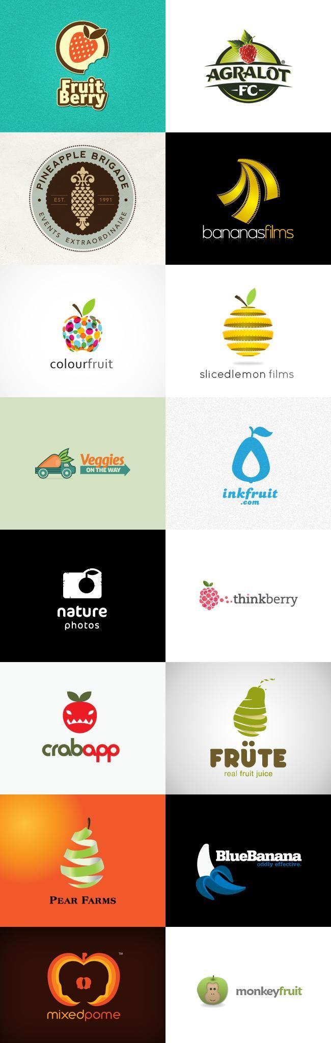 fruit_logos.jpg (650×2048) Fruit logo, Natural logo, Bar