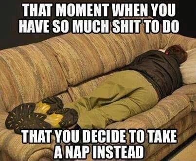 When You Have So Much To Do You Take A Nap Instead Lazy Meme Funny Quotes Humor In This Moment