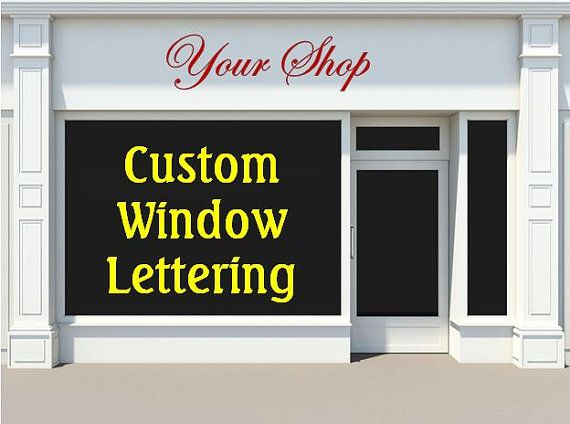 Use Vinyl Decals On Your Storefront Or Business Windows For - Custom vinyl decals windows