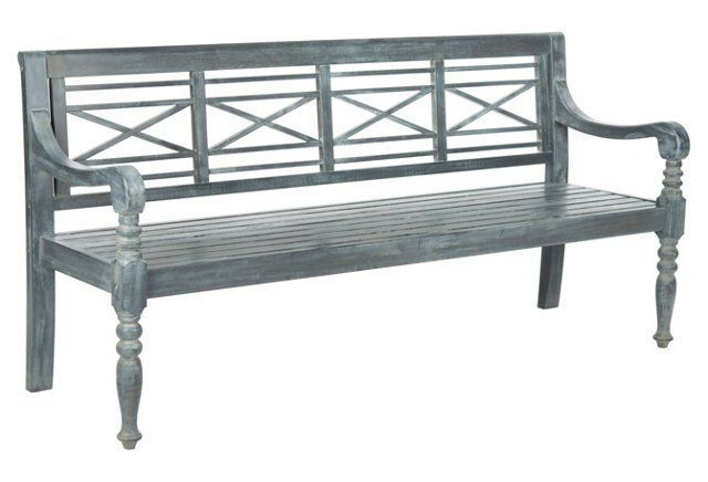 """Outdoor Winslow 70"""" Bench, Ash Gray"""