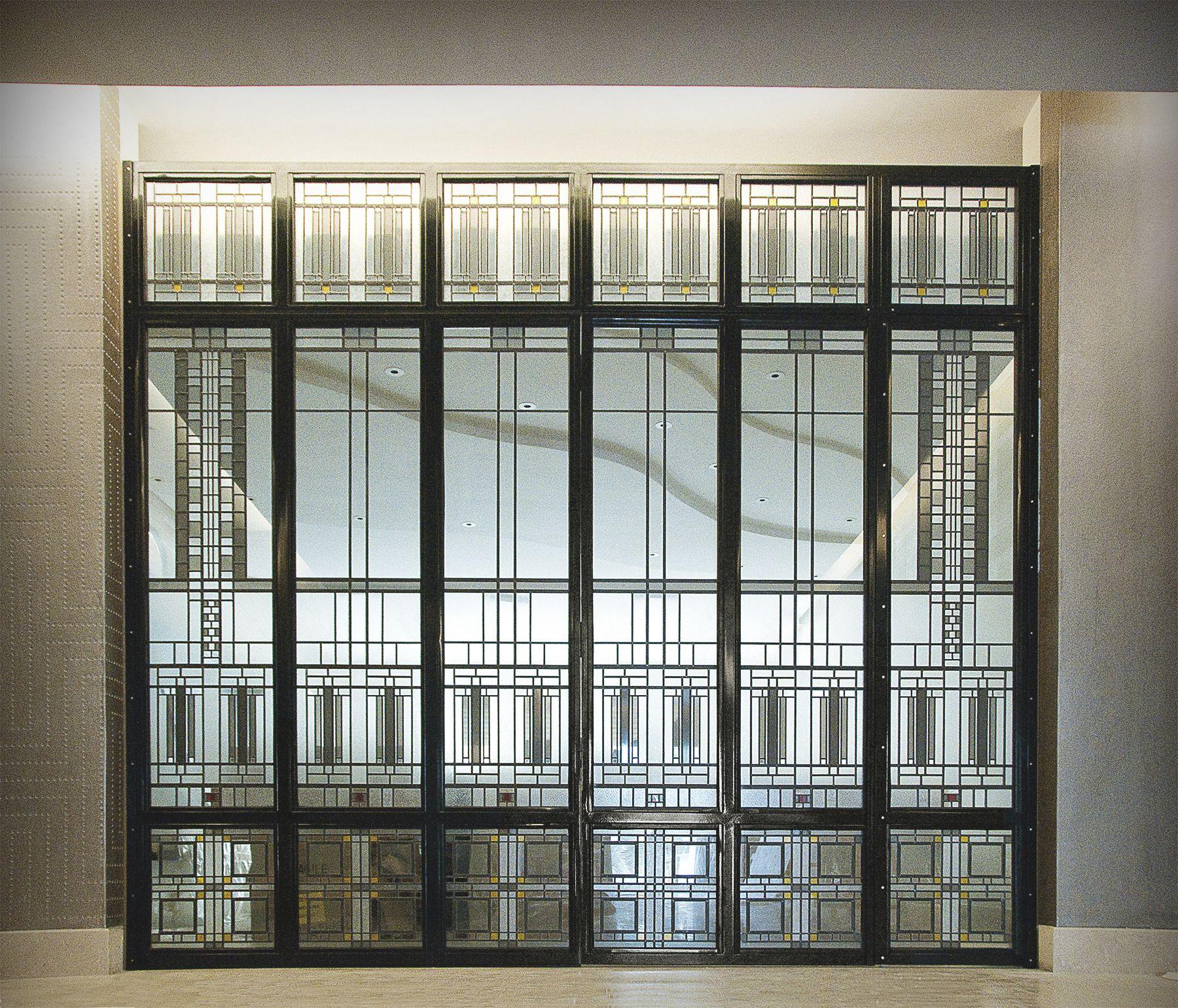 cloison lumineuse art deco h tel particulier verre clair stadip 44 2 avec films couleur et. Black Bedroom Furniture Sets. Home Design Ideas