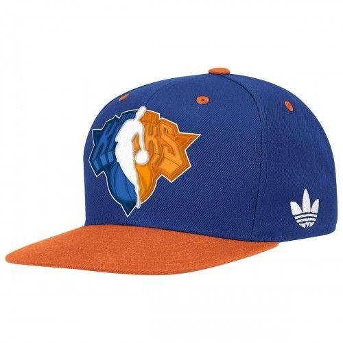 adidas Knicks Flat Brim Snap Back  bc0f3d94be3