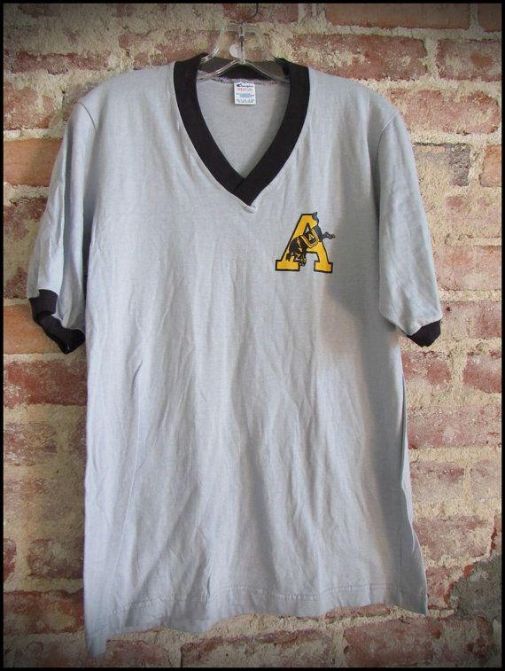 Vintage Deadstock 1980's US Army Champion V Neck Ringer Shirt by RackRaidersVintage, $18.00