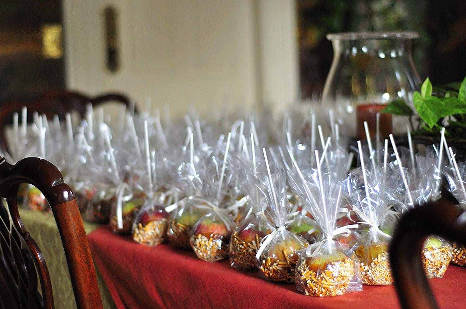 Clear poly bags for your small sized candy apples with