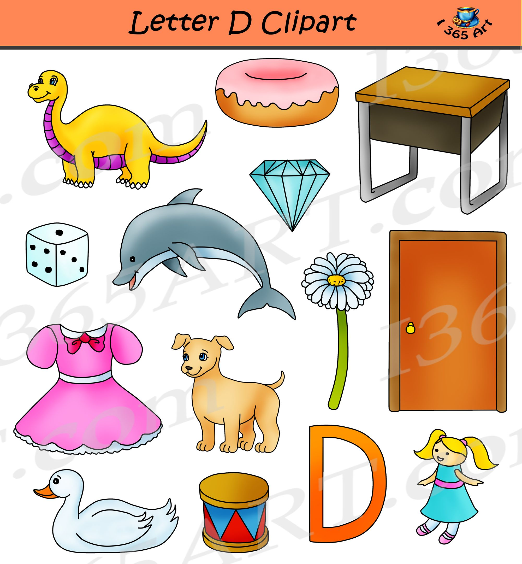 Letter D Clipart Commercial Use Graphics