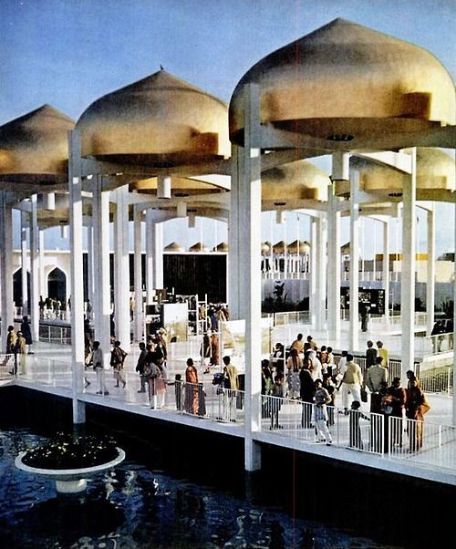 minoru yamasaki u s pavilion 1960 world agriculture fair new delhi india arq. Black Bedroom Furniture Sets. Home Design Ideas